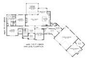 Traditional Style House Plan - 3 Beds 2.5 Baths 3510 Sq/Ft Plan #932-341 Floor Plan - Main Floor