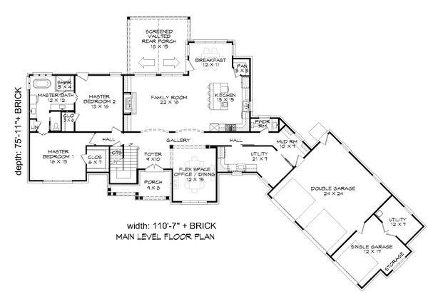Traditional Floor Plan - Main Floor Plan #932-341