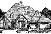 Colonial Style House Plan - 4 Beds 3.5 Baths 2870 Sq/Ft Plan #310-720 Exterior - Front Elevation