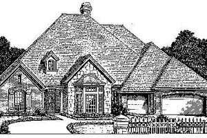 Colonial Exterior - Front Elevation Plan #310-720