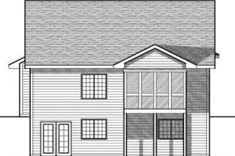 Traditional Exterior - Rear Elevation Plan #70-682 - Houseplans.com