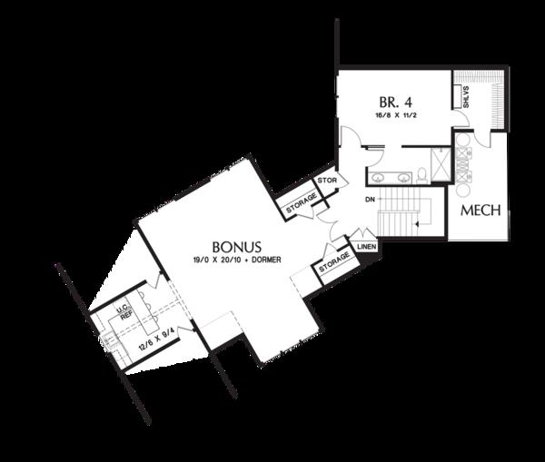 Craftsman Floor Plan - Upper Floor Plan Plan #48-711