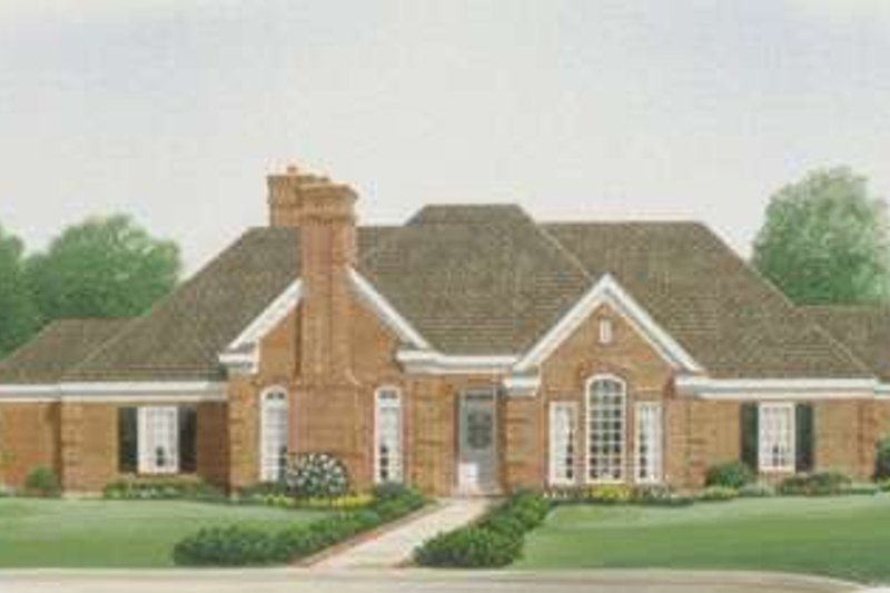 European Exterior - Front Elevation Plan #410-130