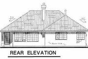 Mediterranean Style House Plan - 2 Beds 2 Baths 1487 Sq/Ft Plan #18-1005 Exterior - Rear Elevation