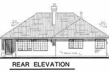 Architectural House Design - Mediterranean Exterior - Rear Elevation Plan #18-1005