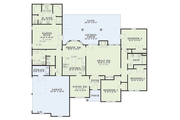 Ranch Style House Plan - 4 Beds 2.5 Baths 2147 Sq/Ft Plan #17-1088 Floor Plan - Main Floor Plan