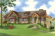 Craftsman Style House Plan - 2 Beds 3 Baths 1921 Sq/Ft Plan #923-23 Exterior - Front Elevation