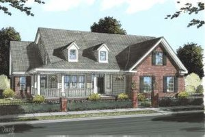 Country Exterior - Front Elevation Plan #20-1661