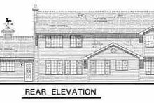 House Plan Design - Country Exterior - Rear Elevation Plan #18-234