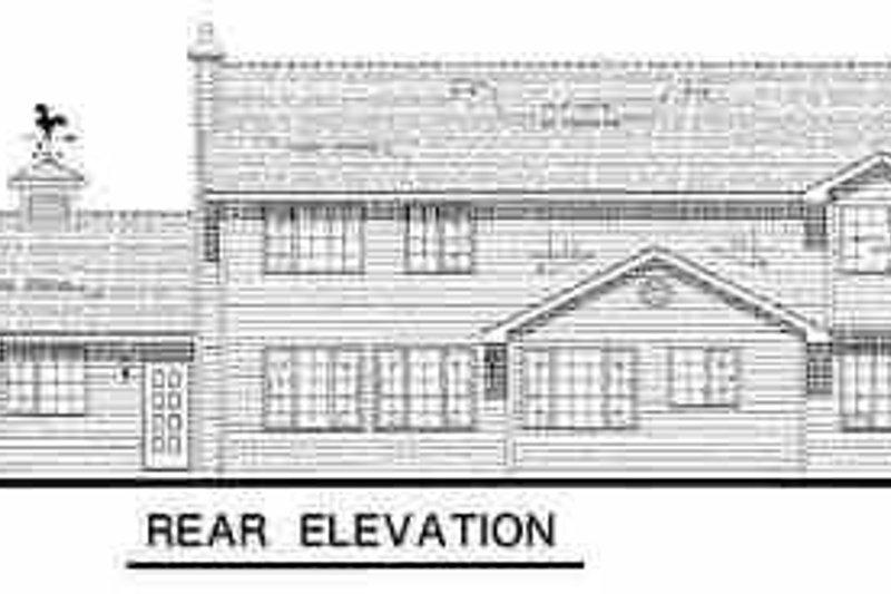 Country Exterior - Rear Elevation Plan #18-234 - Houseplans.com