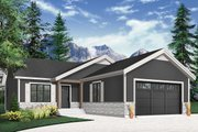 Country Style House Plan - 2 Beds 2 Baths 1040 Sq/Ft Plan #23-2697