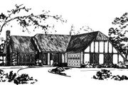 Colonial Style House Plan - 3 Beds 2 Baths 1479 Sq/Ft Plan #36-270 Exterior - Front Elevation