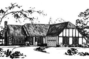Colonial Exterior - Front Elevation Plan #36-270
