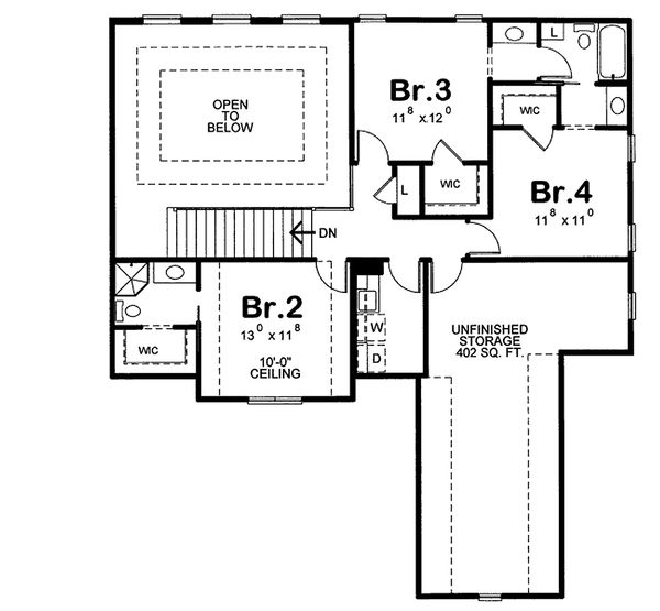 Home Plan - European house plan, floor plan