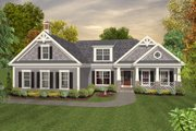 Colonial Style House Plan - 3 Beds 2.5 Baths 1800 Sq/Ft Plan #56-590 Exterior - Front Elevation