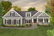 Architectural House Design - Colonial Exterior - Front Elevation Plan #56-590