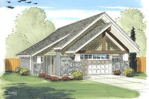 Modern Exterior - Front Elevation Plan #455-19