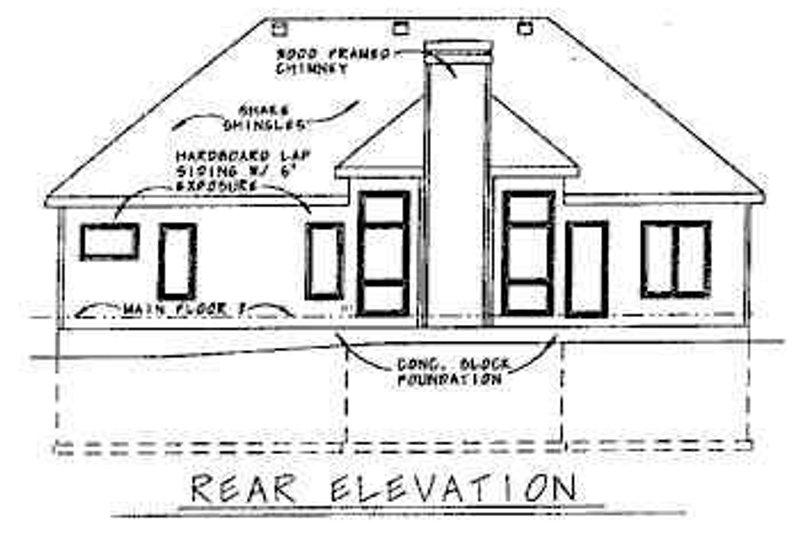 European Exterior - Rear Elevation Plan #20-428 - Houseplans.com