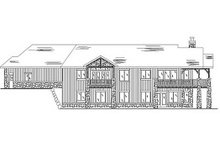 House Plan Design - Ranch Exterior - Rear Elevation Plan #5-282