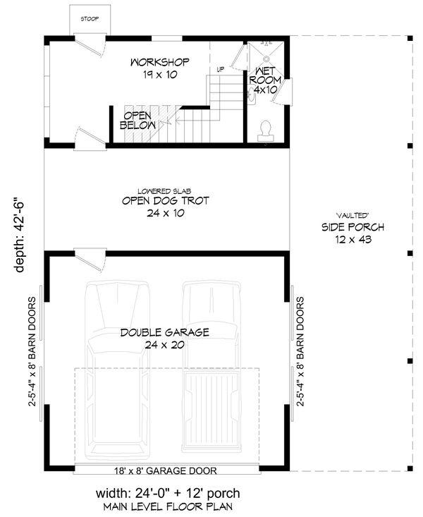 House Design - Country Floor Plan - Main Floor Plan #932-355