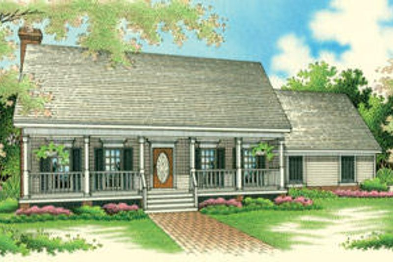 Traditional Style House Plan - 3 Beds 2 Baths 1600 Sq/Ft Plan #45-269 Exterior - Front Elevation