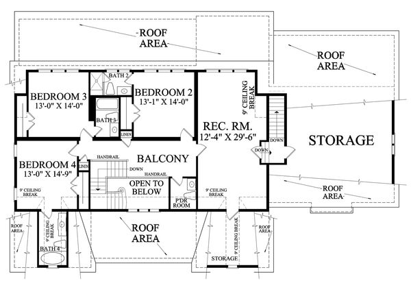 Country Floor Plan - Upper Floor Plan Plan #137-280