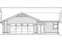 House Plan Design - Craftsman Exterior - Rear Elevation Plan #434-17