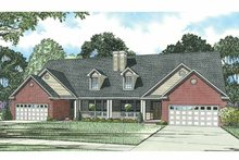 House Plan Design - Traditional Exterior - Front Elevation Plan #17-2694