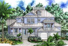 Architectural House Design - Mediterranean Exterior - Front Elevation Plan #1017-54