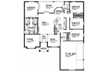 Adobe / Southwestern Floor Plan - Main Floor Plan Plan #1058-96