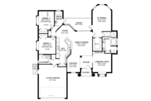 Mediterranean Floor Plan - Main Floor Plan Plan #1058-37
