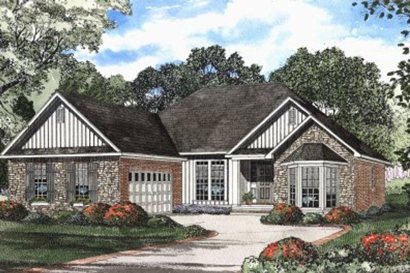 Architectural House Design - European Exterior - Front Elevation Plan #17-1115