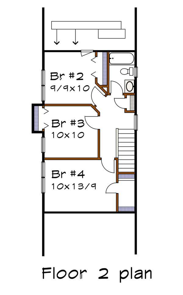 Cottage Floor Plan - Upper Floor Plan Plan #79-177