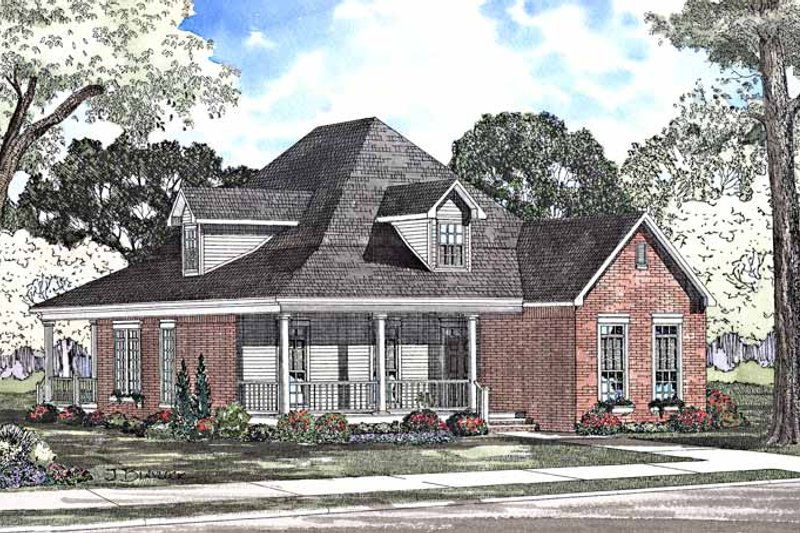 Country Exterior - Front Elevation Plan #17-3226 - Houseplans.com