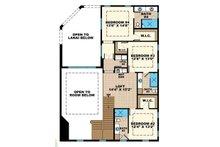 Mediterranean Floor Plan - Upper Floor Plan Plan #1017-159