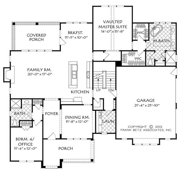 European Floor Plan - Main Floor Plan Plan #927-974