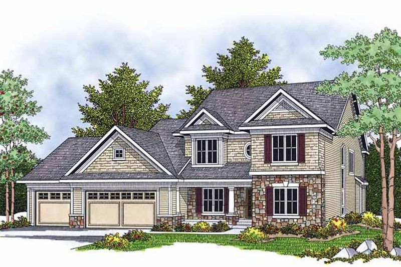 Country Exterior - Front Elevation Plan #70-1379