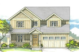 Home Plan - Traditional Exterior - Front Elevation Plan #53-578