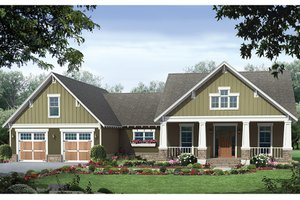 House Plan Design - Ranch Exterior - Front Elevation Plan #21-440