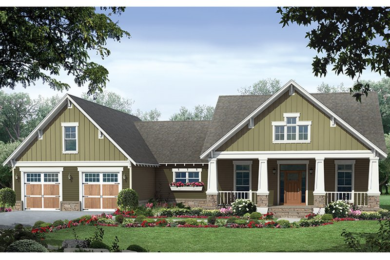 Architectural House Design - Ranch Exterior - Front Elevation Plan #21-440