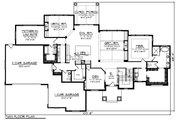 Craftsman Style House Plan - 5 Beds 4.5 Baths 4206 Sq/Ft Plan #70-1471 Floor Plan - Main Floor Plan