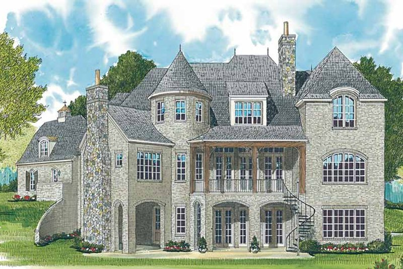 Country Exterior - Rear Elevation Plan #453-464 - Houseplans.com