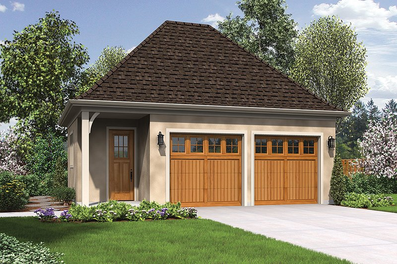 Craftsman Exterior - Front Elevation Plan #48-918