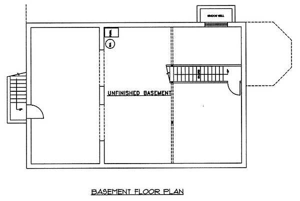 Country Floor Plan - Lower Floor Plan Plan #117-176