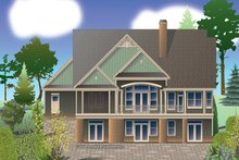 Craftsman Exterior - Rear Elevation Plan #929-982