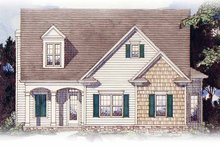 House Plan Design - Colonial Exterior - Front Elevation Plan #54-238