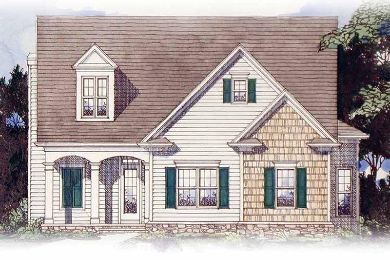 Colonial Exterior - Front Elevation Plan #54-238 - Houseplans.com
