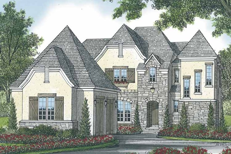 European Exterior - Front Elevation Plan #453-570