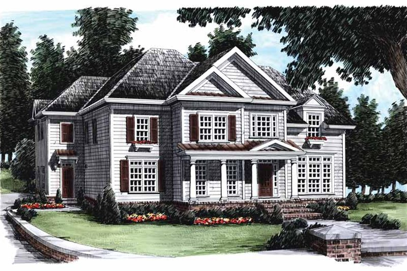 Colonial Exterior - Front Elevation Plan #927-640