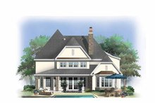 Dream House Plan - European Exterior - Rear Elevation Plan #929-838